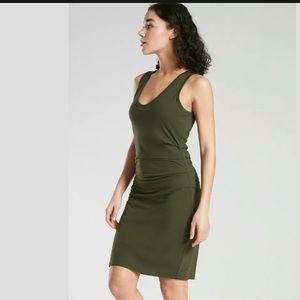 ATHLETA Della Dress Tuscan Olive NWT